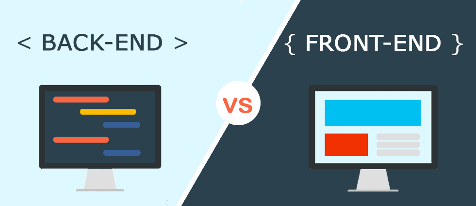 fornt-end developer vs back-end developer