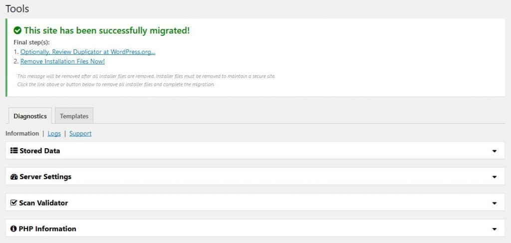 how to switch web hosts clean up after migration