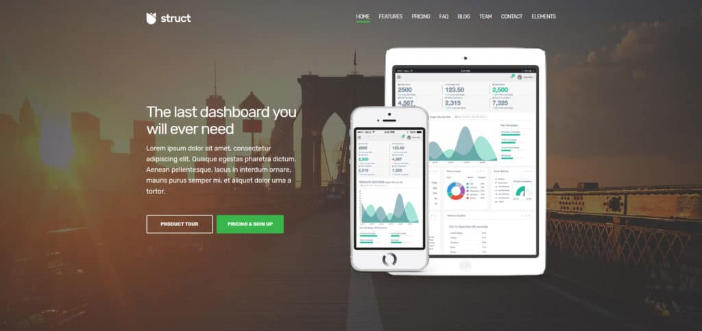 struct is one of the best flexible wordpress themes