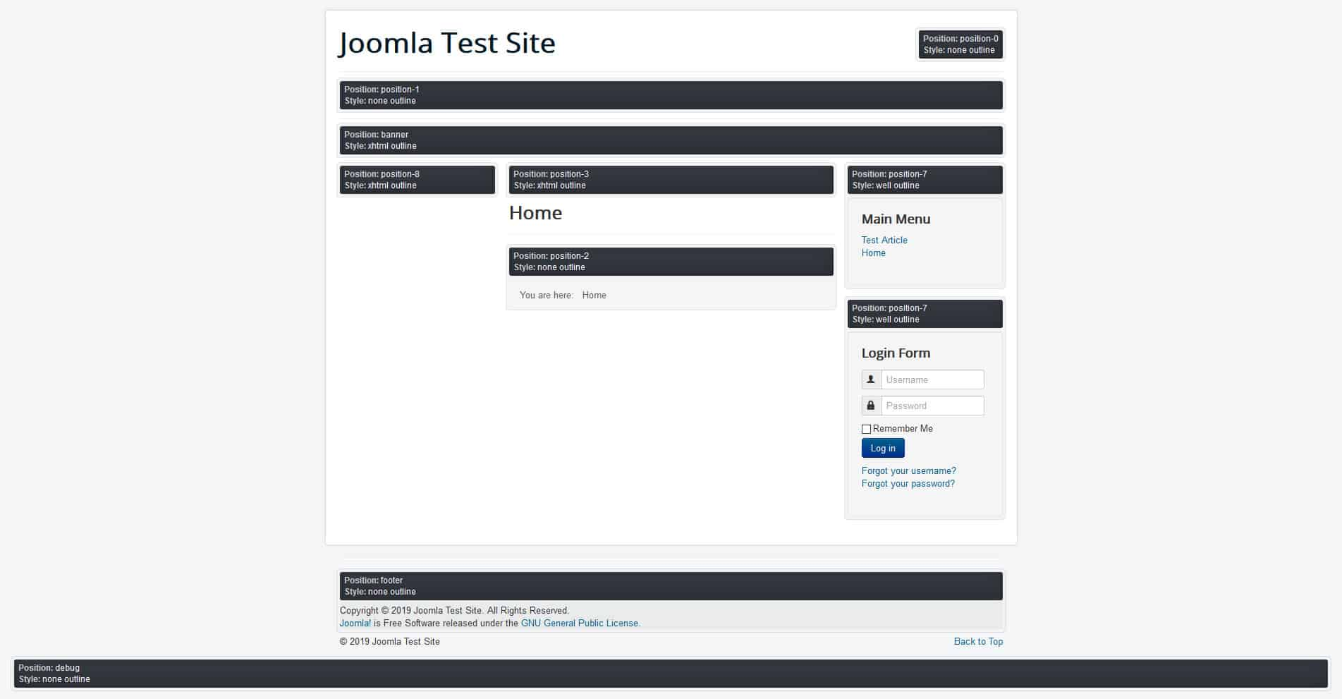 joomla module position preview