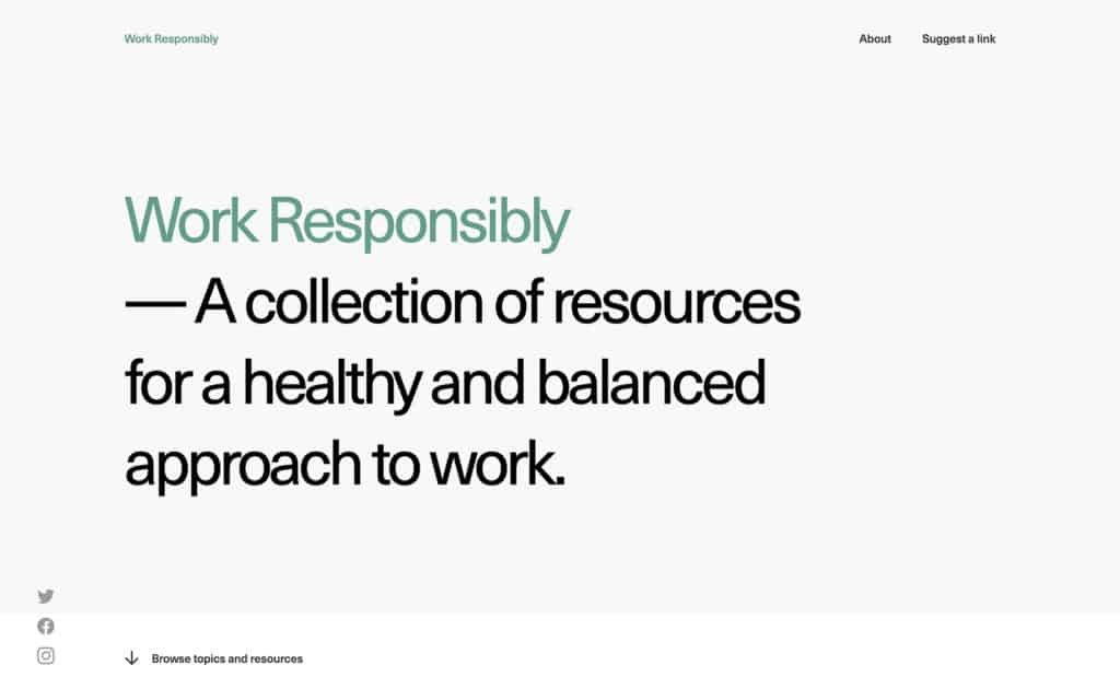 Work Responsibly