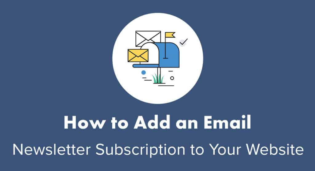 How to add an email newsletter