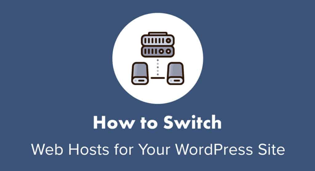 How to switch web hosts