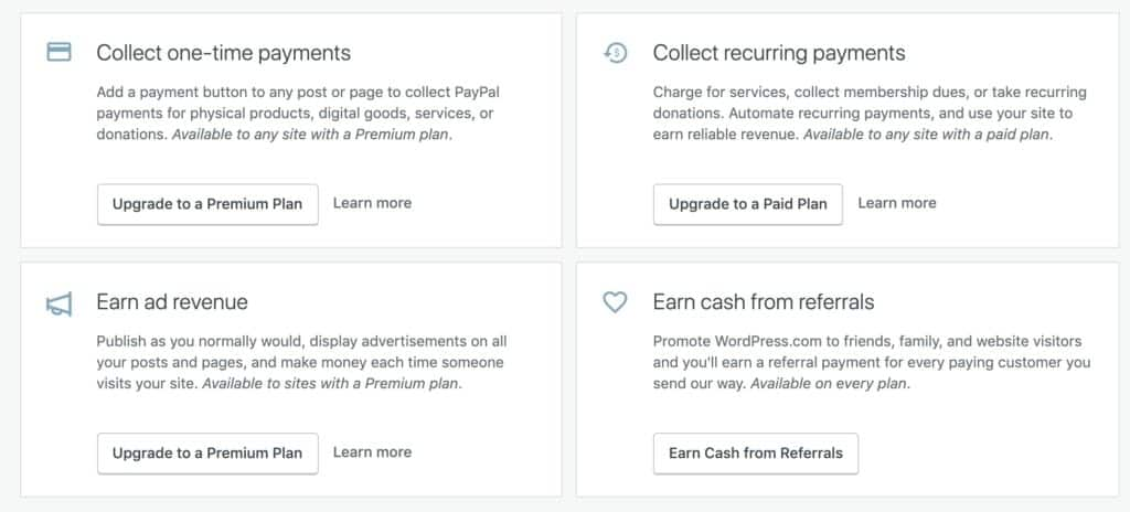WordPress.com monetization