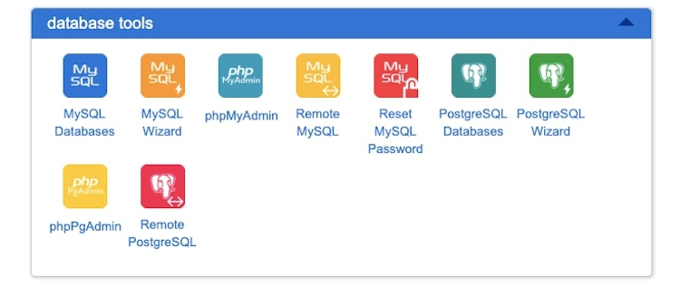 cPanel Database Tools