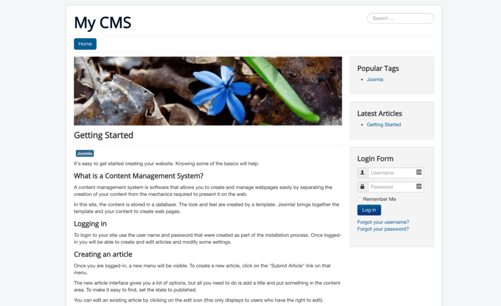 Best CMS: joomla design