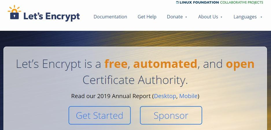 The Lets Encrypt certificate.