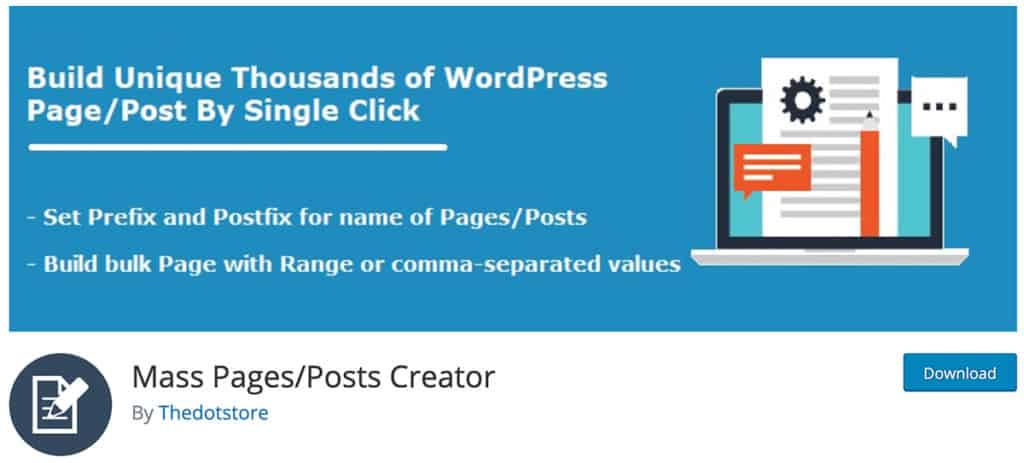 Mass Pages Post Creator