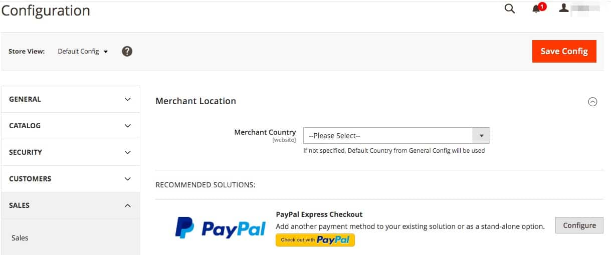 How to configure payment methods.