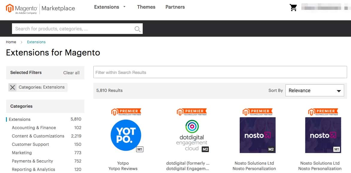 Magento Marketplace extensions.