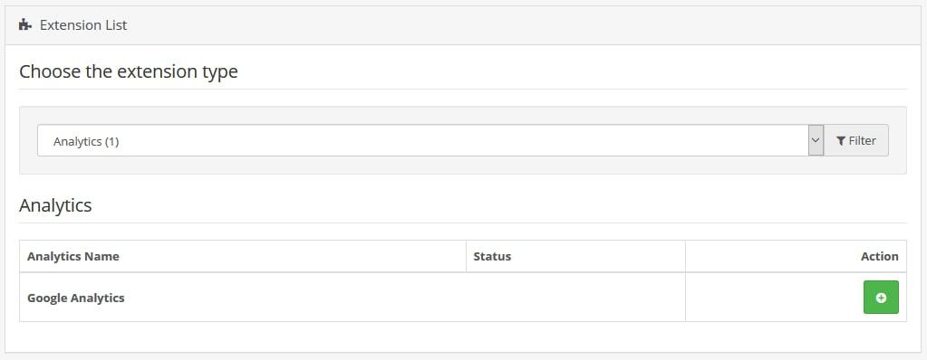install google analytics extension