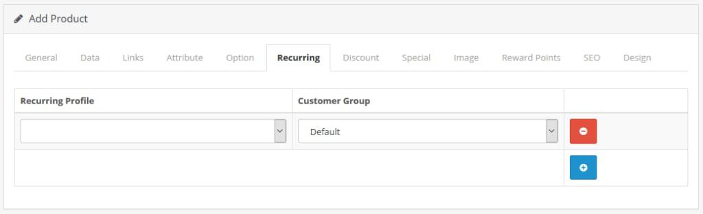 product recurring profiles