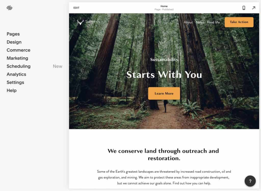 Squarespace customizer