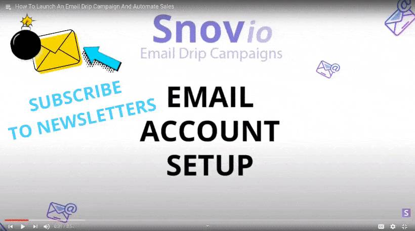 Subscribe to email newsletters on YouTube video