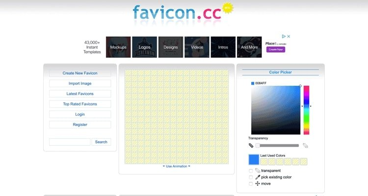 The Favicon.cc website