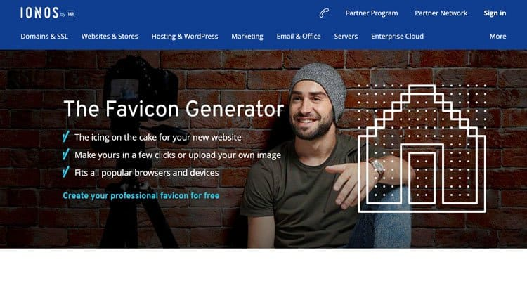 The Sonos free favicon generator website